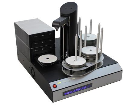 CD Kopierer mit 4 CD/DVD-Brennern und 375er CD Magazin